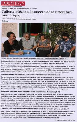 article dans la Dépêche du 22 novembre 2015